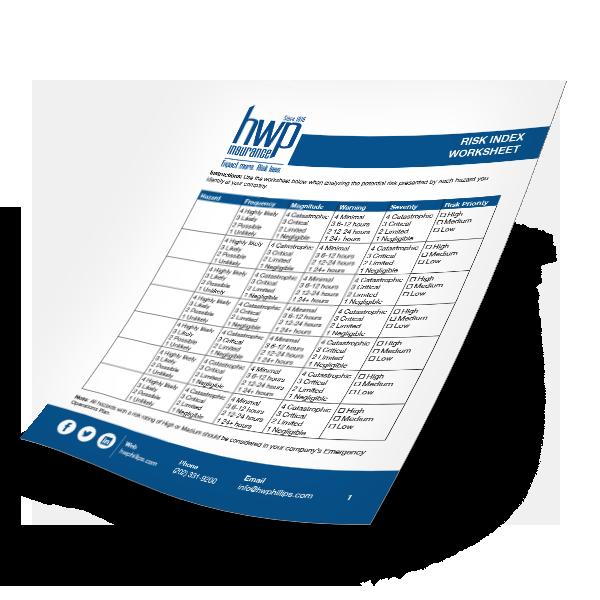 Risk Index Worksheet