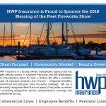 HWP Insurance to Sponsor 2018 Blessing of the Fleet Fireworks Show